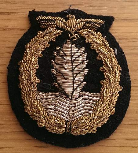 Bullion Cloth Minesweepers badge