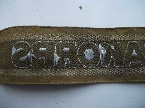 Afrika Korps cuff title received today