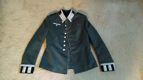 My first Heer Parade Tunic Named