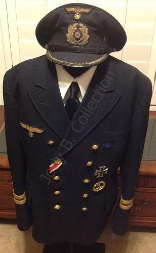 My Oberleutnant zur See uniform is waiting for his next patrol