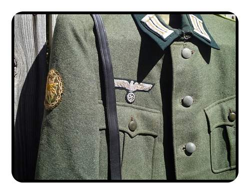 Well worn ,  Mountain Division Tunic.