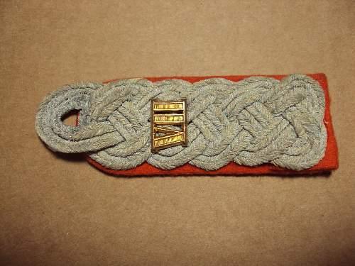 German insignia lot  bullion breast eagle, collar tab & orange shoulder board for review ???