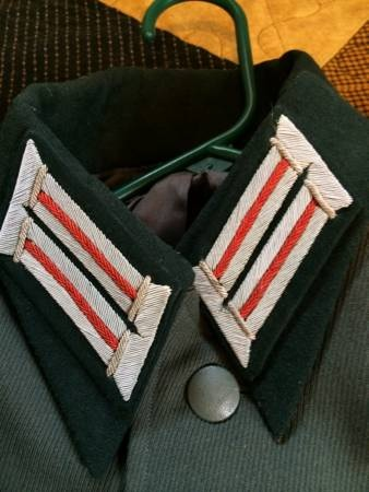 196th Artillery Division Tunic and visor