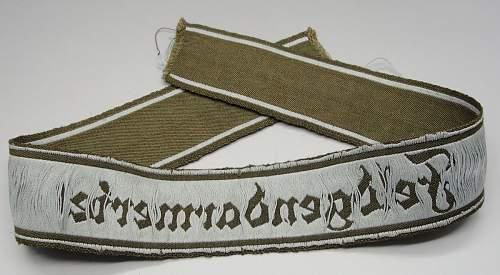 Heer Feldgendarmerie cuff title