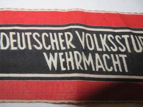 Party and Volksturm armbands,