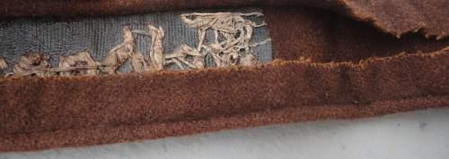Feldgendarmerie cuff title wooltype fake ?