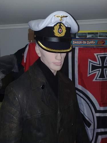 Kriegsmarine leather deck jacket:)
