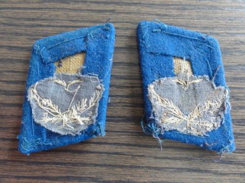 Luftwaffe Flak Reserve Leutnants (lieutenants) Collar Patches/Tabs , 100% original pre war or wartime  ?