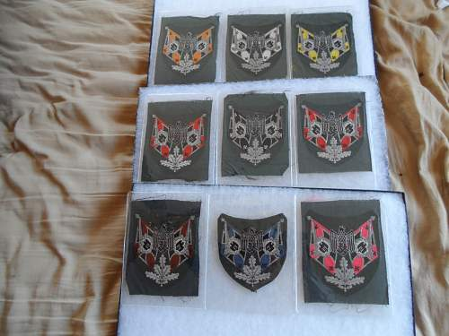 My Collection of Army Standard Bearers Sleeve Shields