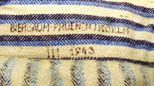 German wartime issue pyjamas?