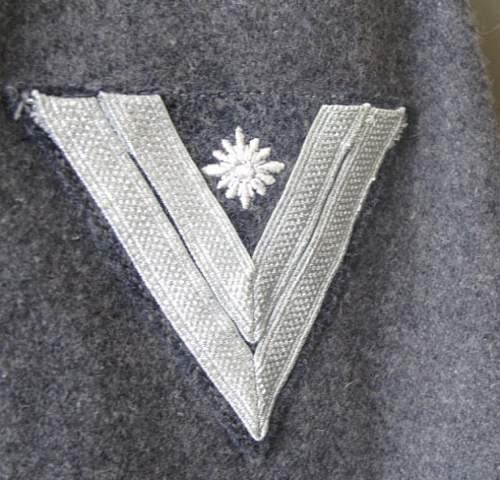 luftwaffe stabsgefreiter feuerwerker tunic