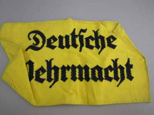 Deutsch wehrmacht armbands