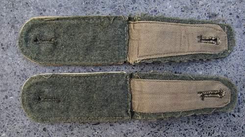 Shoulder boards soldat der infanterie