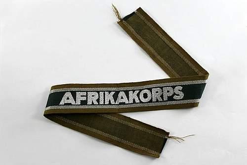 Africakorps cufftitle