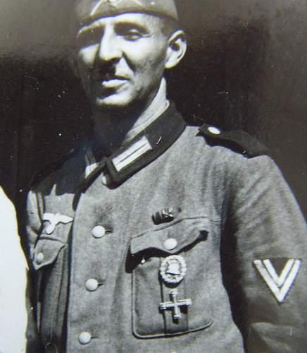 Freikorps Baltenkreuz/Baltic Cross worn on Wehrmacht Uniform, 1940--Photo