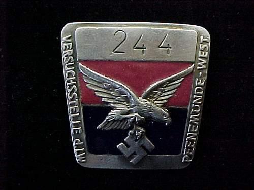 Click image for larger version.  Name:Peenemunde Factory Badge Front.jpg Views:69 Size:226.6 KB ID:76199
