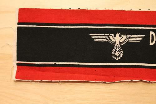 Volkssturm armband. My fist Insignia!