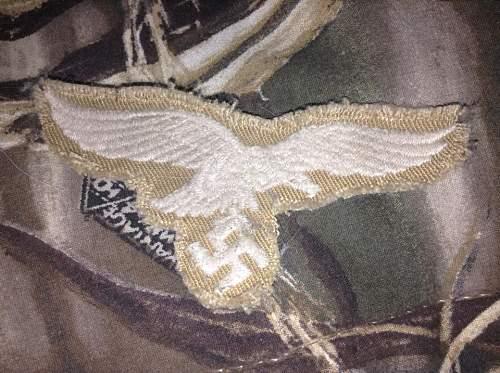 Afrika Korp Luftwaffe breast eagle, original?