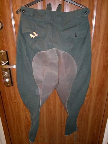 German (?) breeching pants. Military or civil?