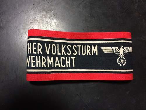deutscher volkssturm wehrmacht band