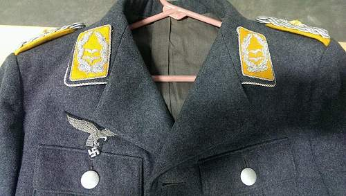 Luftwaffe Generalleutnant Tunic for Review
