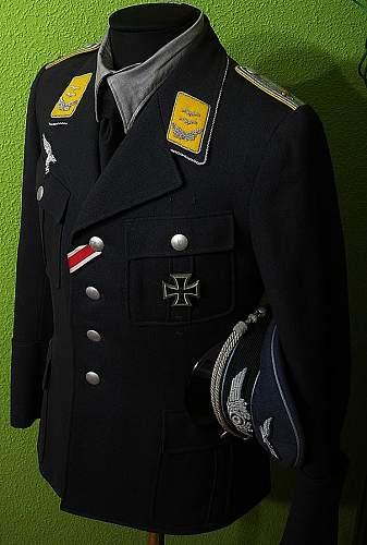 Luftwaffe tuchrock 1943 oberleutnat Sieglin.