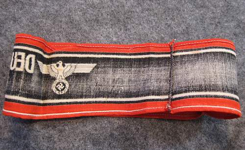 Deutscher Volkssturm Wehrmacht armband for review
