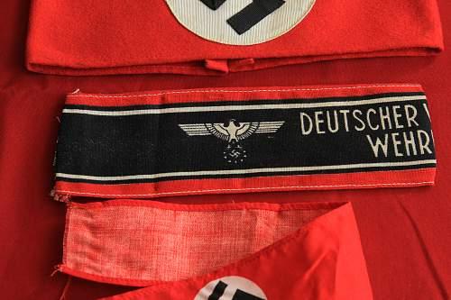 Deutscher Volkssturm Kampfbinde variant ---