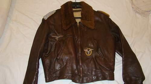 Luftwaffe leather jacket pilot
