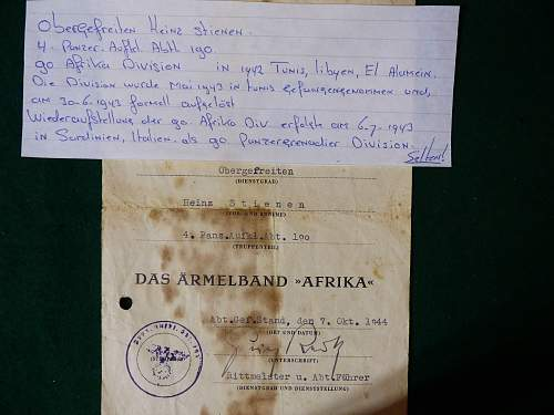 AFRIKA Cuff Title & Award Document for comment.