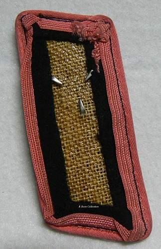 Single Panzer Collar Tab