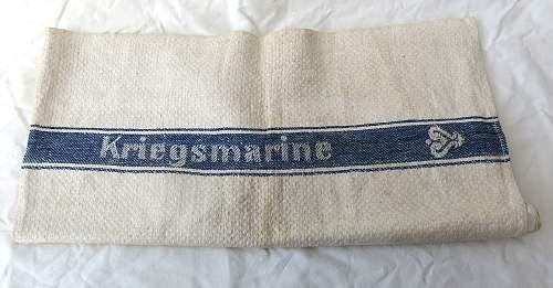 Kriegsmarine tea towel