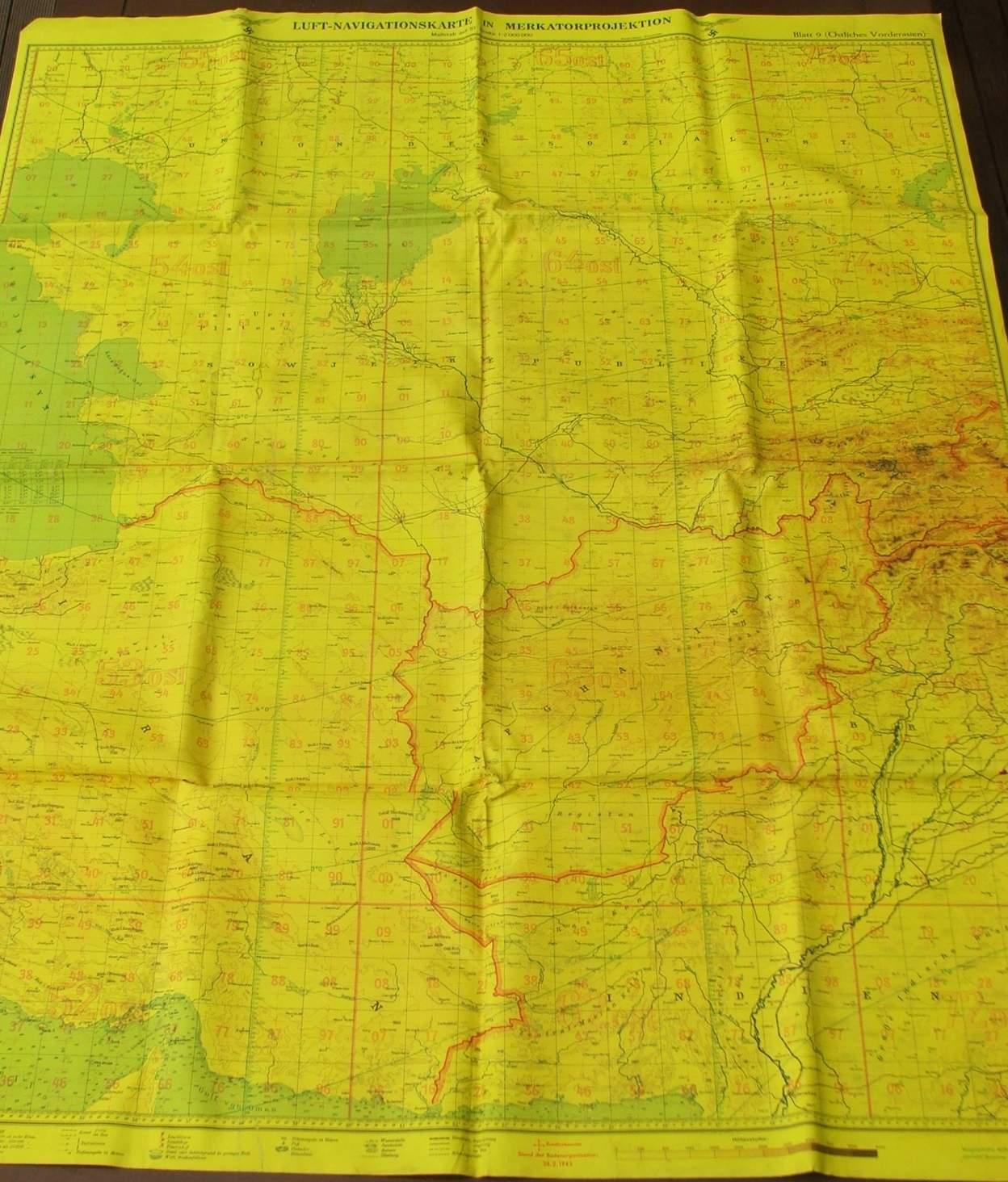 Luftwaffe Night Navigation Flight Map