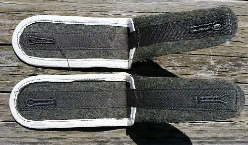 late war, 44-45 construction Heer infantry EM shoulder boards