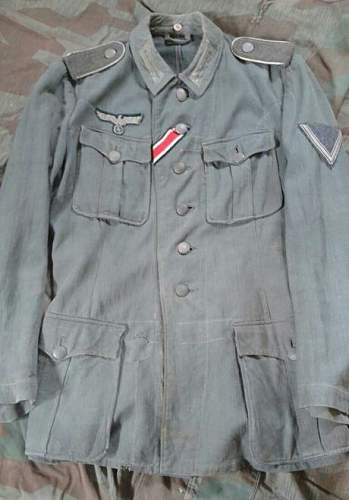 Heer drillich m41 feldbluse - ask for help