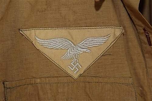 German Luftwaffe Tropical Uniform...opinions