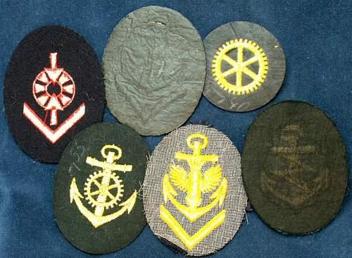 Kriegsmarine; Mixed EM Insignia Group