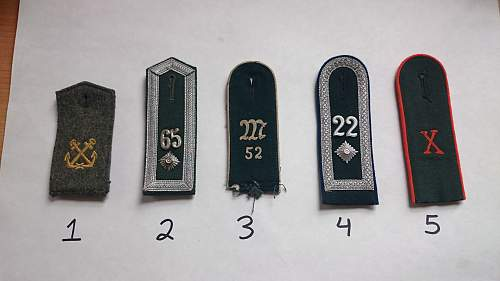 German shoulder straps and other insignia - please help me identify what they all stand for!