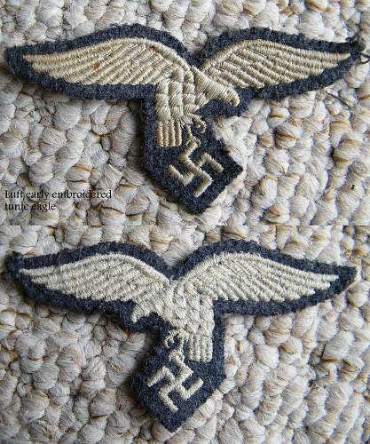 Luftwaffe breast eagles, early and later issues