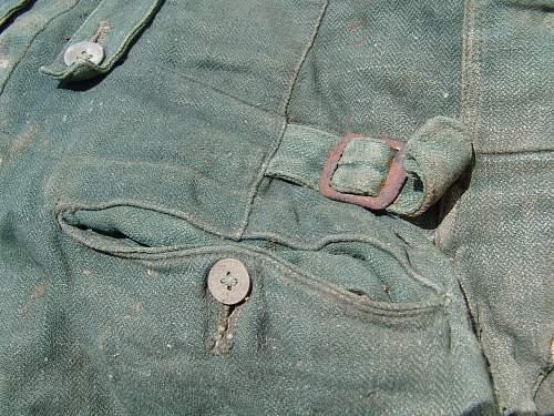 Real m40 model Summer drill pants?