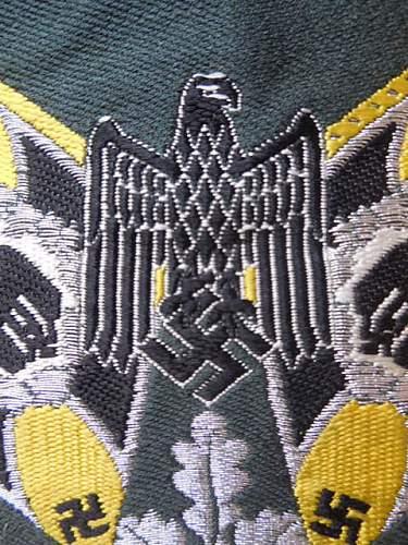 My two Heer Standard-Bearer's insignias