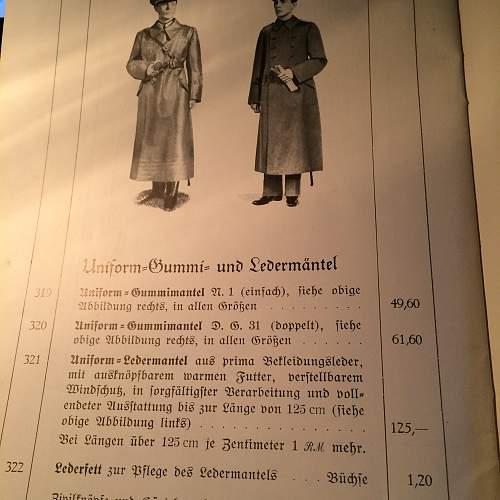 Long Leather Officers Coat restoration