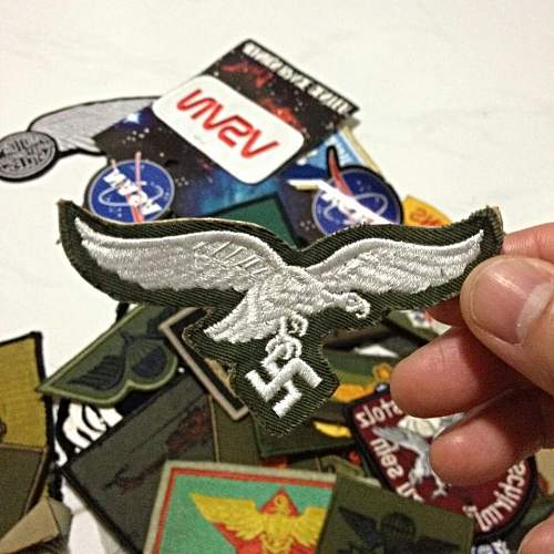 Is this a real luftwaffe eagle patch?