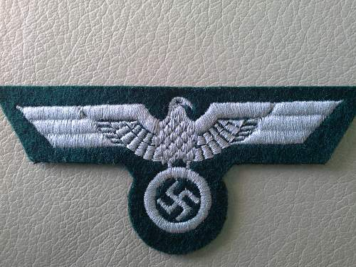 Eagle cloth badge Heer, opinions please?