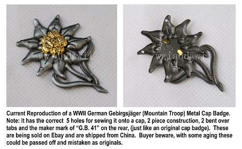 Click image for larger version.  Name:Repro Edelweiss from China.jpg Views:12 Size:81.8 KB ID:886978