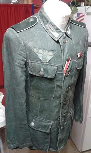 WWII German combat tunic HBT