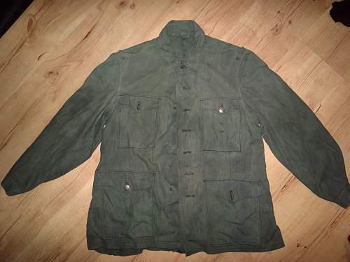 WWII german drillich jacket?