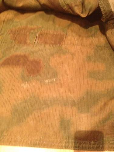 Well-worn camouflage jacket