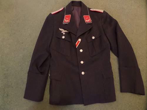 Luftwaffe Flak officers tunic pick up