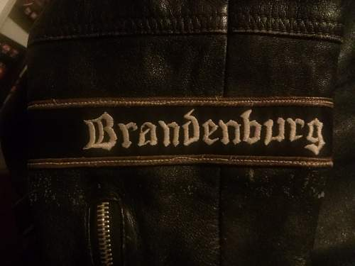 Leather officer panzer jacket